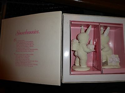 Dept 56 Snowbunnies Happy Birthday To You 2 Pc  In Box