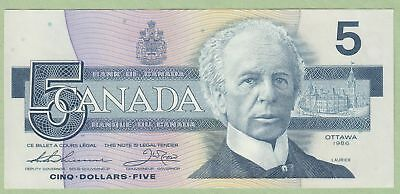 1986 Bank of Canada 5 Dollar Note - Thiessen/Crow - ENA8920285 - UNC