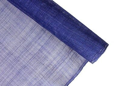 Stiffened Sinamay Millinery Fabric - Blue - 1 Meter x 90cm