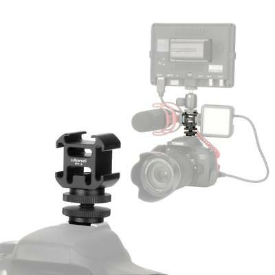 3-Hot Shoe Mount Adapter Microphone Mini LED Video Light for Digital DSLR Camera