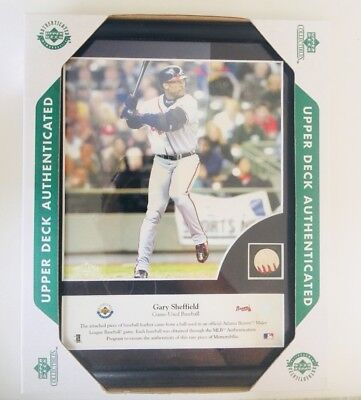 Upper Deck Gary Sheffield Piece of Action Game Used Ball Piece Limited Edition