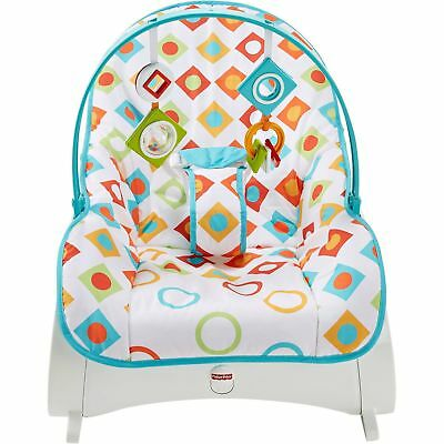 Infant to Toddler Rocker Bouncer Seat Baby Chair Sleeper Swing Toy Geo Diamonds