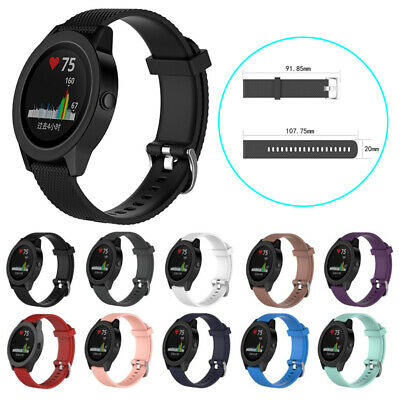 20mm Silicone Replacement Wrist Band Strap For Garmin Vivoactive 3 Vivomove HR