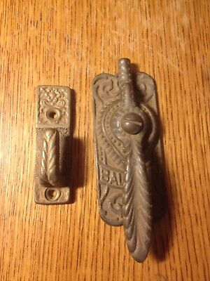 Vintage Solid Brass Baldwin Ice Box Latch and Catch Hardware
