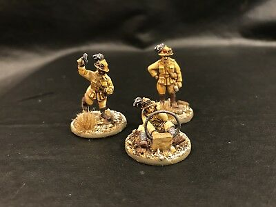28mm Warlord Games Italian Command Group, Propainted WWII Bolt Action,