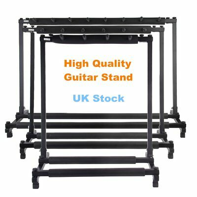 3/5/7/9 Holder Multi Guitar Padded Rack Stand Storage Electric Acoustic Bass UK