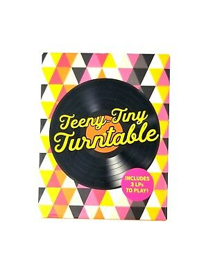 Teeny Tiny Turntable Audiophiles and Classic Collectors Deluxe Mega Kit New