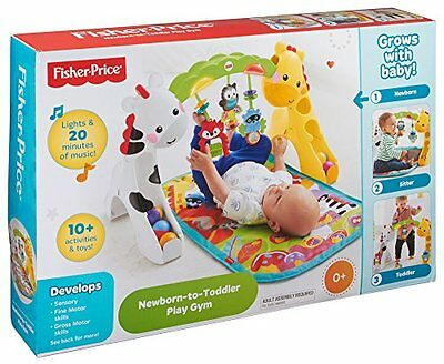 Fisher Price Grow With Me Fun Baby Activity Play Gym with Music Lights & Toys