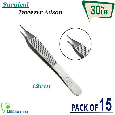 Dental Surgical Adson Tweezer Forceps Cotton & Dressing Plier Dentistry Lab Tool