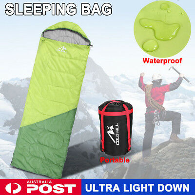 New Single Duck Down Sleeping Bag Hiking Camping Outdoor Light Weight Thermal