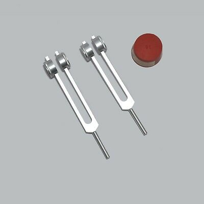 Cellulite Fat Weight Reduction Weighted Tuning forks +Mallet for Sound Healing