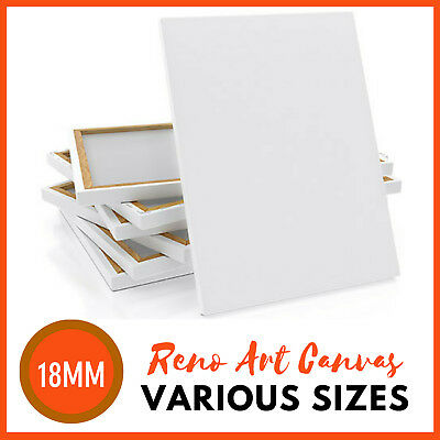 BULK | RENO ART BLANK ARTIST STRETCHED CANVAS CANVASES All Sizes | Oil Acrylic