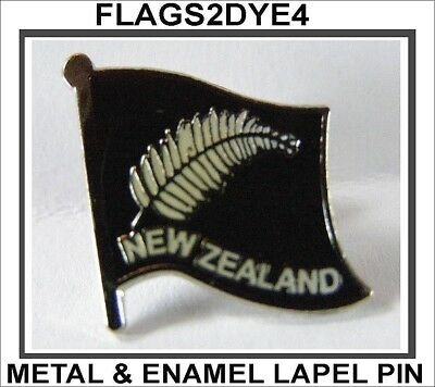 New Zealand flag NZ fern lapel pin badge INCLUDES AUSTRALIA POST TRACKING
