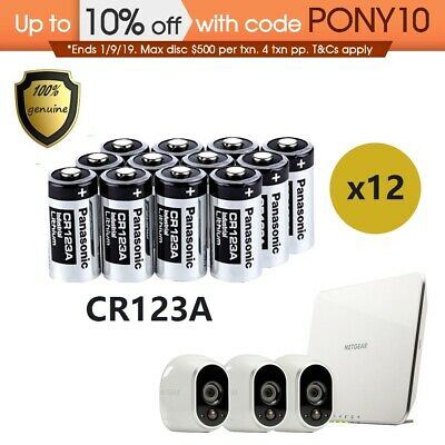 Panasonic CR123A Battery Netgear Arlo Security Camera VMS3330 3430 3230 3310 12X