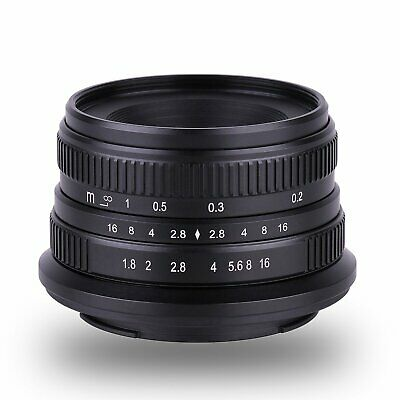 New 25mm F/1.8 APS-C Manual Focus Fixed Lens For Sony E Mount Camera A7R A7