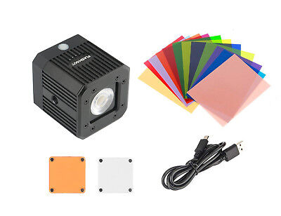 5-Models Waterproof LED Light + Filter Film For Sony Nikon Canon Camera Black