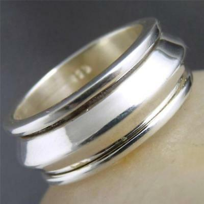 Recessed ARROW SPINNER Size US 6.25 SilverSari RING Solid 925 Stg Silver SPR1017