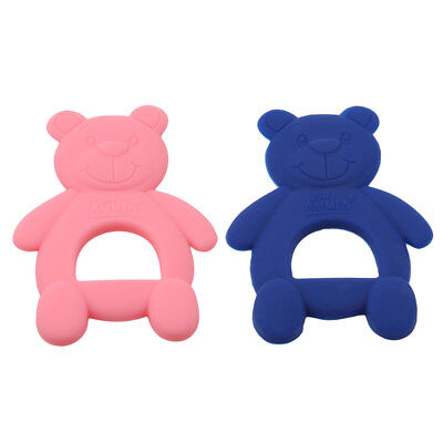 Baby Teether Silicone Cute Bear Teething Pendant Chewing Training Toys Nursing L