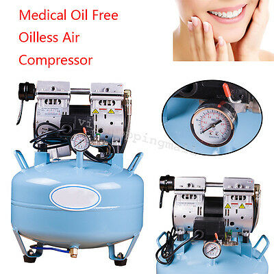 Medical Dental Air Compressor Silent Quiet Noiseless Oilless Oill Free 30L New