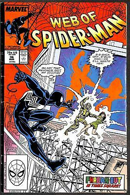 Web of Spider-Man #36 1st App Tombstone FN-