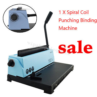 Commercial Steel Metal Spiral Coil Calendar 34Holes Punching Binding Machine CE