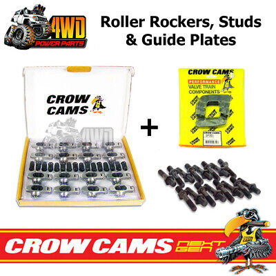 Crow Cams Roller Rockers, Studs & Guide Plates Kit Ford Cleveland 302 351 V8