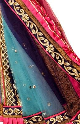 Vintage Heavy Dupatta Antique Women Bridal Long Scarf Embroidered Stole HD1097