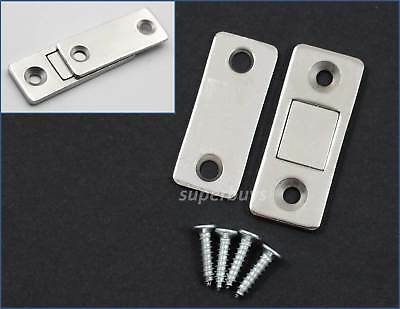 1 Set Low Profile Magnetic Cabinet Cupboard Door Fasten Latch Snap Clasp Magnet