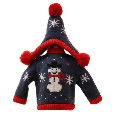 Christmas Knit Sweater Wine A Variety Of Styles Of Multi-Color Bottle Sets  FY