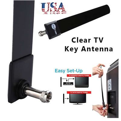 Clear TV Key HDTV FREE Digital Indoor Antenna Ditch Cable Hidden As Seen on TV-