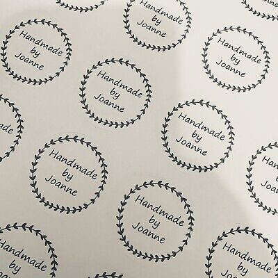 Personalised Business Handmade By Name Stickers Seals Your Logo Labels Address