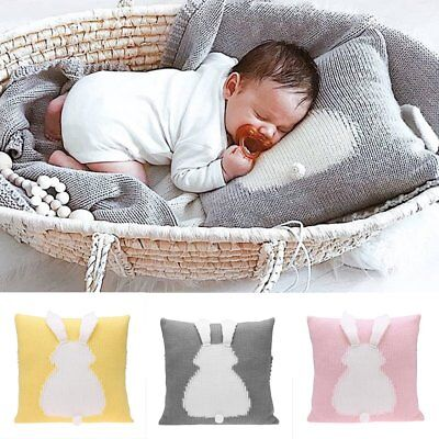Cotton Knitted Rabbit Pillowcase Pillow Cover Car Sofa Cushion Cover Home Decor