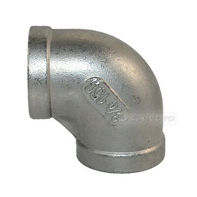 """1*3/4"""" Elbow 90 Degree Angled SS 304 Female to Female Threaded Pipe Fitting BSPT"""