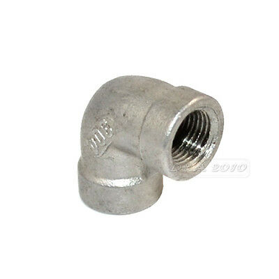 "1X 1/8"" Elbow 90° Angled SS 304 Female x Female Threaded Pipe Fitting BSPT Inter"