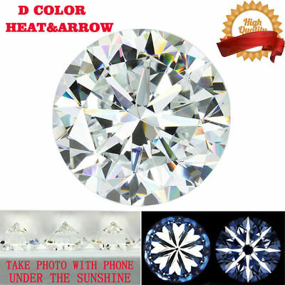 1.0CT Heart and Arrow DEF Color Moissanite Loose Stone Round Excellent Cut 6 mm