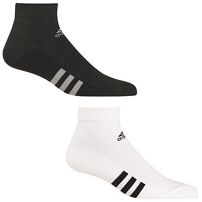 2018 Adidas Mens 3-Stripe Ankle Sports Socks - 3 Pair Pack Lo Cut Training Golf
