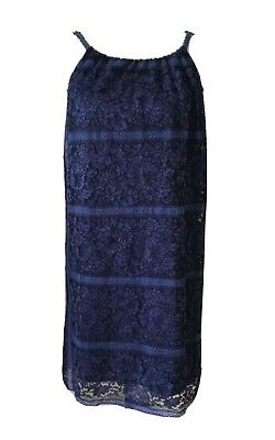2a37c2aee8d8 MAX STUDIO Women s Small Sleveless Blue Floral Lace Lined Above Knee Dress