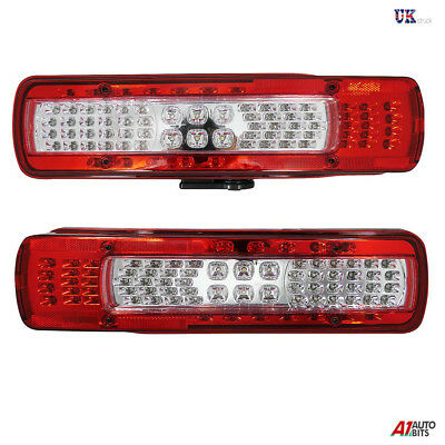2x Led Rear Combination Lights Lamps Stop Fog Reverse Alarm For Volvo Fh4 2013+