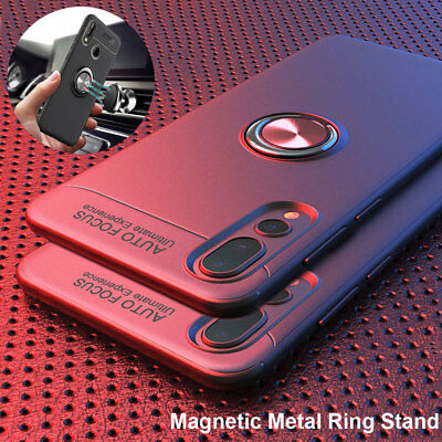 Magnetic Ring Stand Case for Huawei P20Lite/Nova 3i/Y5 Y7 Prime Thin Phone Cover