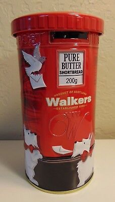 Walkers Shortbread Tin Canister Westie West Highland White Terrier Postal Box