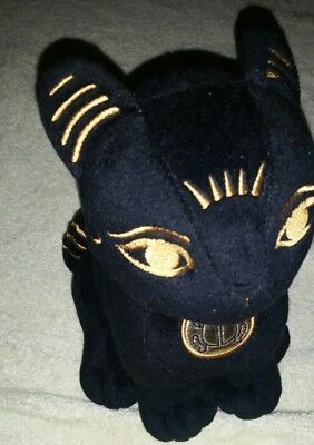 Summit Collection Ancient Egyptian Black Cat Gold Detail 9""