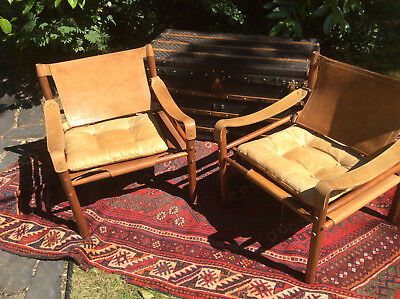 Pair Mid Century Modern MCM Rosewood Arne Norell 'Sirocco' Chairs C. 1965