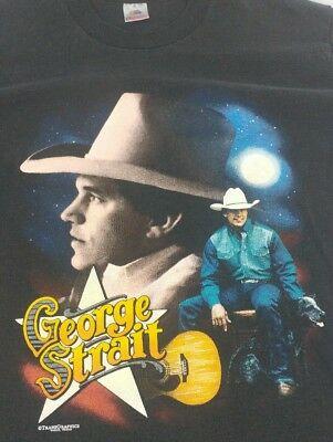 VTG 90s George Strait Tour T Shirt 1994 Made in USA Country Music