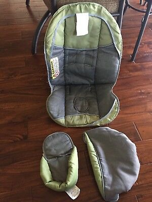 Replacement Cover Canopy Set Baby Trend Flex Loc Infant Car Seat Green Gray