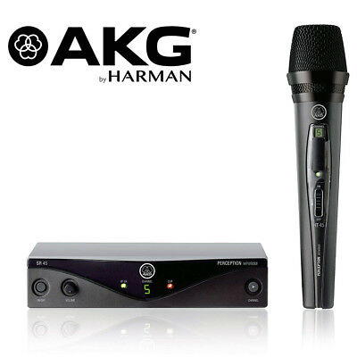 AKG Harman WMS45 Perception Wireless Microphone Vocal Set A 3251H00010 UHF Mic
