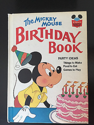 Vintage Disney's Wonderful World of Reading: 1978 THE MICKEY MOUSE BIRTHDAY BOOK
