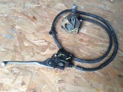 2011 Piaggio NRG Power Front Brake Master Cylinder and Caliper Hose Lever Switch
