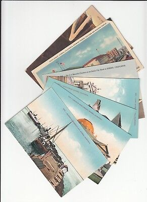 Lot of 7 Eureka CA California Vintage Era Postcards Humboldt County CALIF