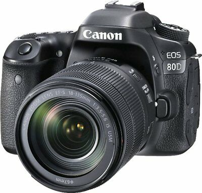 Canon EOS 80D Digital SLR Kit with EF-S 18-135mm f/3.5-5.6, USA