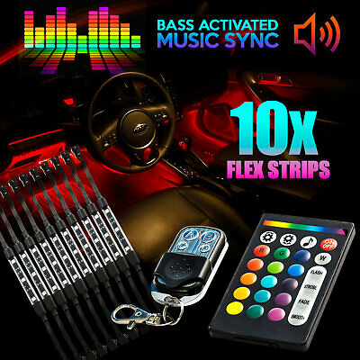 18 Color 10pcs Flexible LED Light NEON Remote Kit For Victory Cross Country